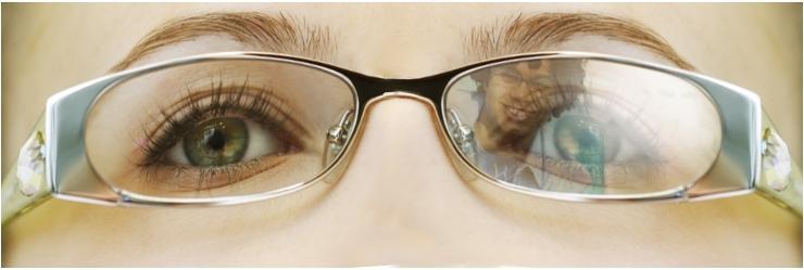 Vliv antireflexní vrstvy na průhlednost čočky pro pozorovatele